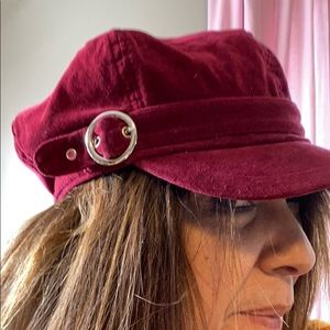 Red woman's hat